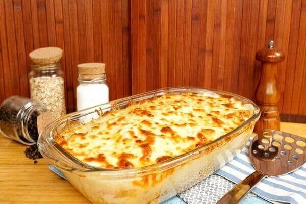 Receita de Lasanha de frango com queijo