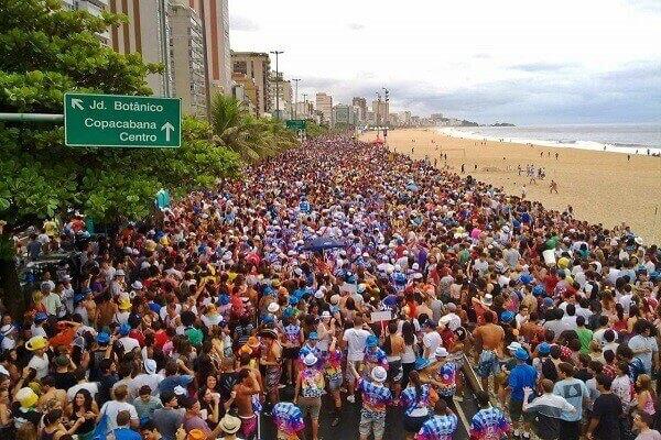 Visitando o Rio no Carnaval.